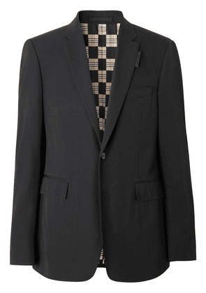 Burberry slim fit technical twill tailored jacket - Black