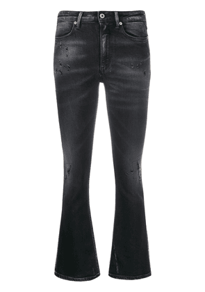 Dondup distressed bootcut jeans - Black