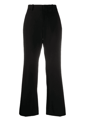 Gucci embroidered flared trousers - Black