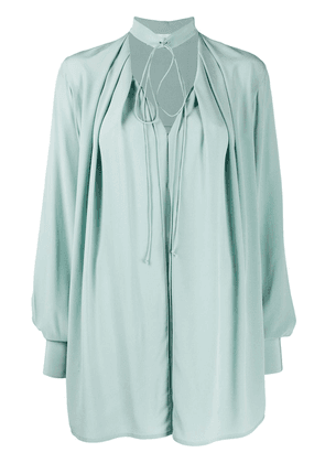 Victoria Beckham oversized tie-neck blouse - Green