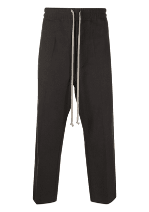 Rick Owens cropped drawstring trousers - Brown