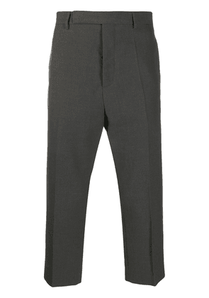 Rick Owens slim-fit cropped chinos - Grey