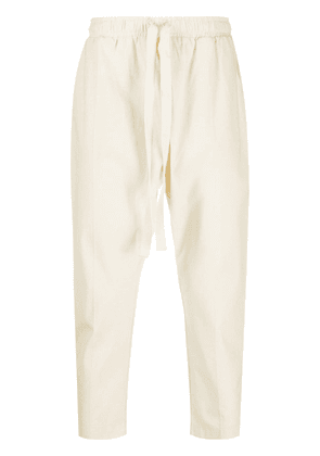 Alchemy mid-rise cropped trousers - NEUTRALS
