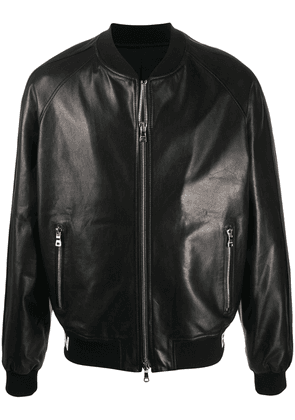 Balmain logo-trim bomber jacket - Black