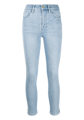 FRAME high rise cropped jeans - Blue