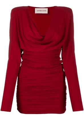 Alexandre Vauthier ruched fitted dress - Red