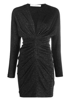 IRO shimmer gathered dress - Black
