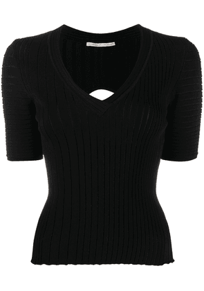 Marco De Vincenzo fine knit cut-out top - Black