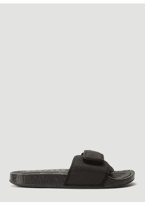 adidas by Pharrell Williams Boost Slides in Black size UK - 09