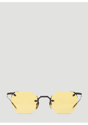 Jacques Marie Mage El Dorado Octagonal Rimless Sunglasses in Yellow size One Size