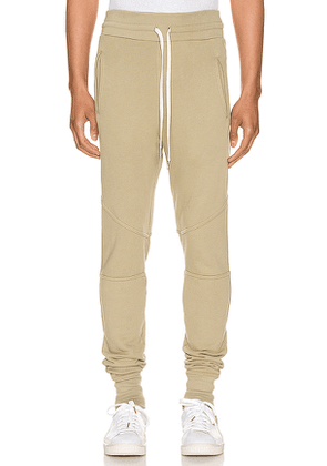 JOHN ELLIOTT Escobar Sweatpant in Green. Size S.