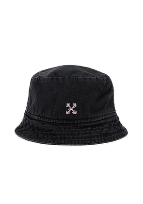 OFF-WHITE Bucket Hat in Black.
