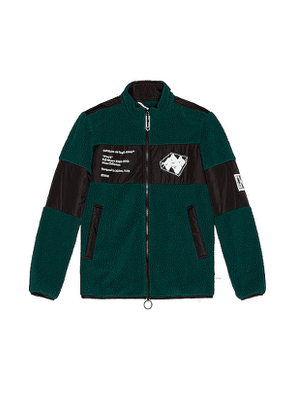 OFF-WHITE Polar Fleece Jacket in Green. Size S.