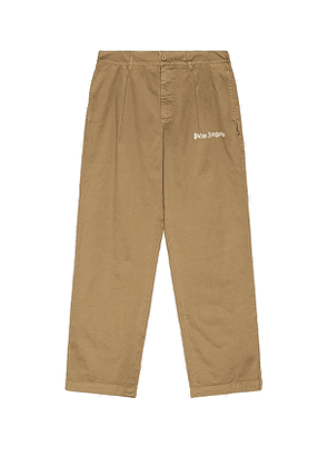 Palm Angels Classic Pants in Neutral. Size 48.