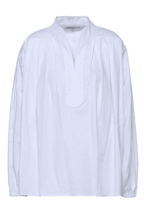 Elizabeth And James Oversized Cotton-blend Top Woman White Size M
