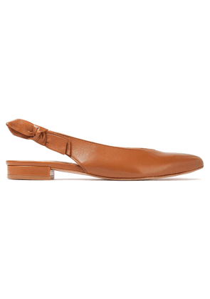 French Sole Penelope Leather Slingback Point-toe Flats Woman Light brown Size 39.5