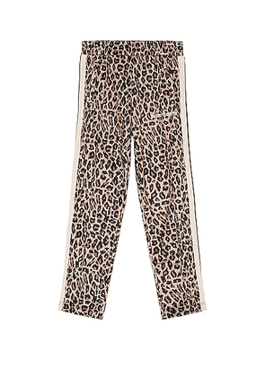Palm Angels Leopard Track Pants in Yellow & White - Animal Print,Neutral. Size M (also in S,XL).