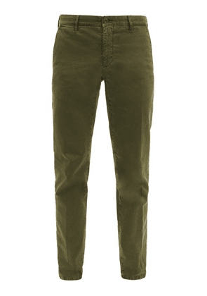 Incotex - Slim-fit Stretch-cotton Blend Chino Trousers - Mens - Green