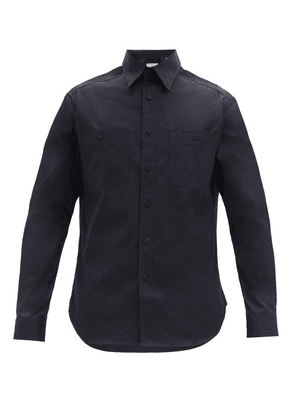 Dunhill - Cotton-twill Utility Shirt - Mens - Navy