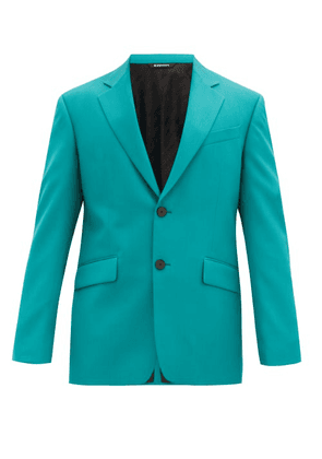 Givenchy - Single-breasted Wool-twill Jacket - Mens - Green