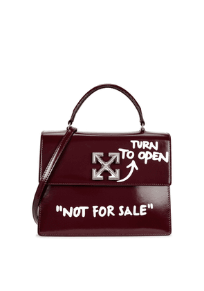 Off-White Jitney 2.8 Bordeaux Leather Top Handle Bag