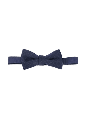 Paolo Pecora Kids ribbed style patterned bow tie - Blue