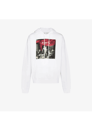 Off-White CARAVAGGIO PAINTING OVER HOOD WHITE BLAC