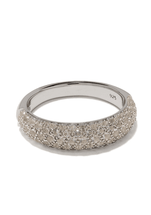 Tom Wood Liz chunky band crystal embellished ring - SILVER