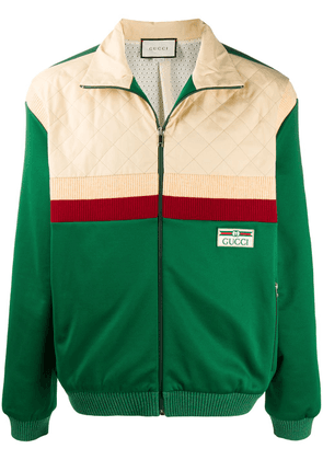 Gucci colour-block bomber jacket - Green