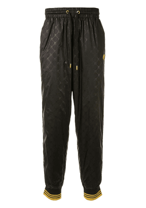 Fila embroidered trim shell trousers - Black