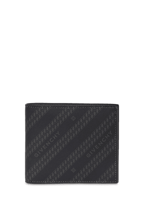 Logo Chain Printed Canvas Wallet