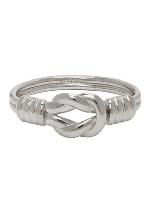 Givenchy Silver Knot Ring