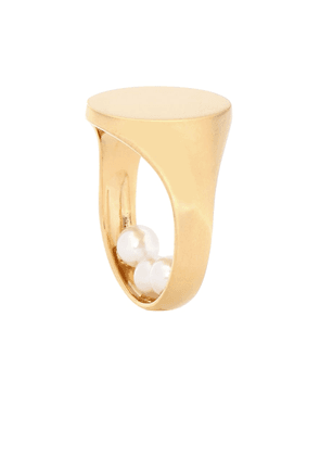 Faux-pearl ring