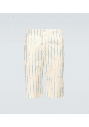 Double G striped cotton shorts