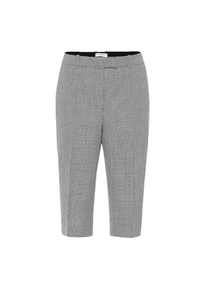 Houndstooth wool Bermuda shorts