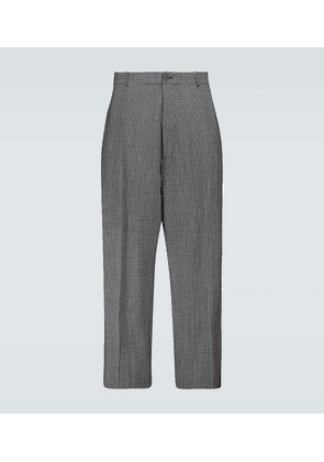 Checked baggy tailored pants