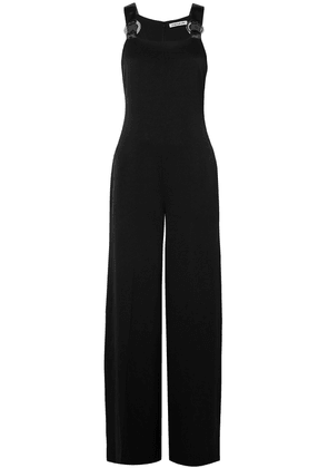 Elizabeth And James Loordes Embellished Satin-trimmed Cady Jumpsuit Woman Black Size 0
