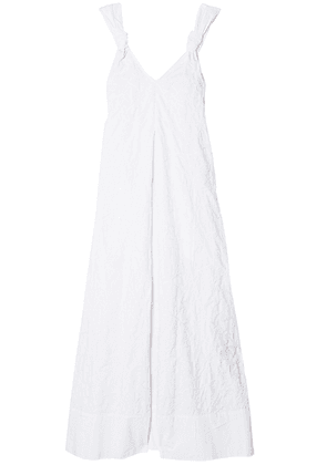 Elizabeth And James Denali Knotted Embroidered Cotton Maxi Dress Woman White Size M
