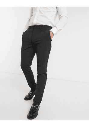 ASOS DESIGN wedding skinny suit trousers in charcoal four way stretch-Grey