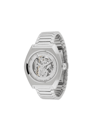 Roberto Cavalli Skeleton 41mm watch - SILVER