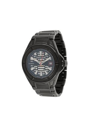 Roberto Cavalli Skeleton 42mm watch - Black