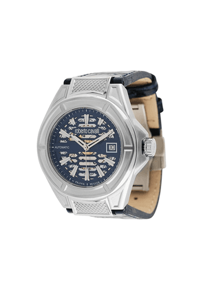 Roberto Cavalli Skeleton 42mm watch - Blue