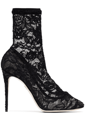Dolce & Gabbana 105 lace ankle boots - Black