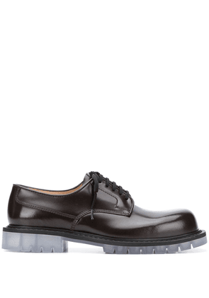 Bottega Veneta transparent sole Derby shoes - Brown