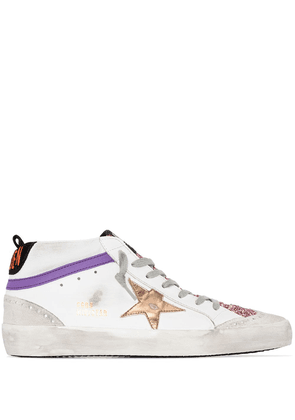 Golden Goose Mid-Star logo-patch sneakers - White