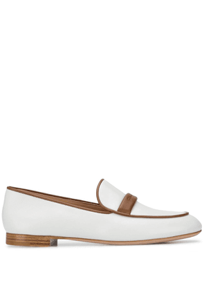 Gianvito Rossi two-tone leather loafers - White