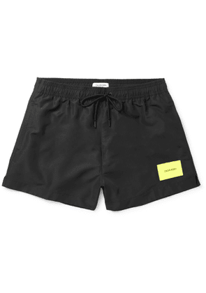 Calvin Klein Underwear - Short-Length Logo-Appliquéd Swim Shorts - Men - Black