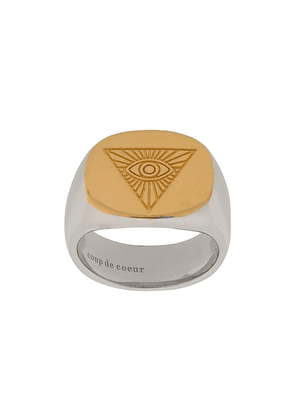 Coup De Coeur all seeing eye ring - Metallic