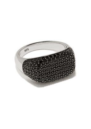 Tom Wood Michael studded detail ring - SILVER