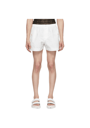 Dion Lee White Boxer Shorts